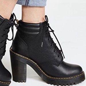 Dr. Martens Persephone Heeled Boot Black